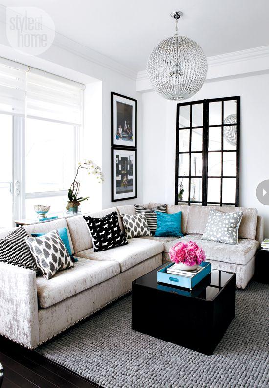 Ideas decoracion blanco y negro sala decoracion interiores for Deco sala en blanco y negro