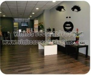 Decoracion de salones de belleza decoracion interiores - Vinilos decorativos para salones ...