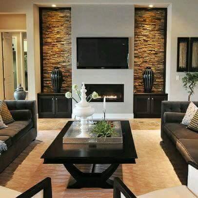Recubre una pared con piedra para darle estilo a tu hogar