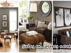 30 ideas de salas de estar color café