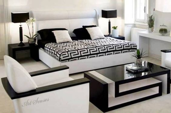 Decoracion de habitaciones en blanco y negro 12 decoracion interiores - Decoracion blanco y negro ...