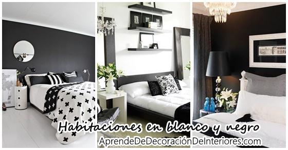 Decoraci n de habitaciones en blanco y negro - Decoracion blanco y negro ...