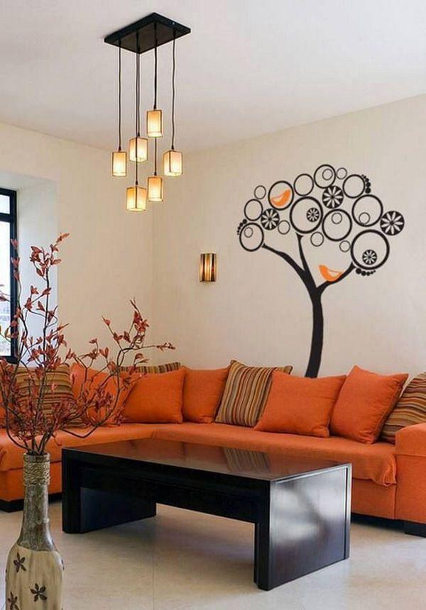 Decoracion De Salas De Estar En Color Naranja 16 Decoracion Interiores