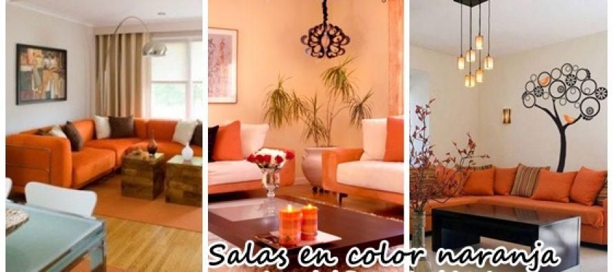 Sala De Estar Naranja ~ Decoración de salas de estar en color naranja