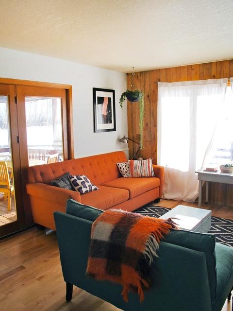 Decoracion De Salas De Estar En Color Naranja 4