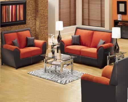 Decoracion de salas de estar en color naranja 7 - Combinar color naranja decoracion ...