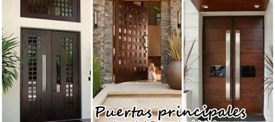 Ideas para la puerta principal de tu casa decoracion for Puertas de casa principal