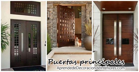 Ideas para la puerta principal de tu casa decoracion for Puertas principales modernas 2016