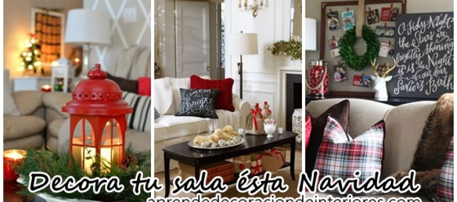 15 ideas para decorar tu sala esta navidad decoracion Ideas para decorar mi sala