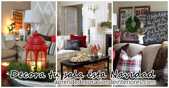 15 ideas para decorar tu sala esta navidad