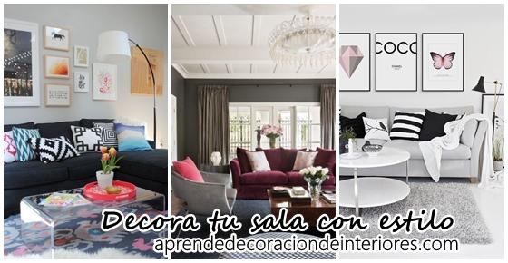Decora tu sala con estilo
