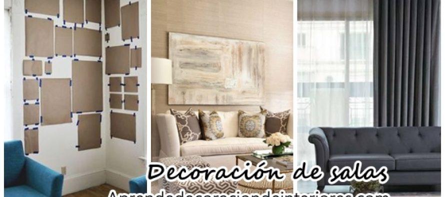 Decoración de salas en diferentes estilos