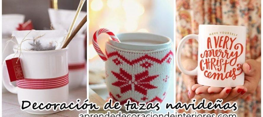 Decoraci n de tazas navide as decoracion interiores - Decoracion de tazas ...