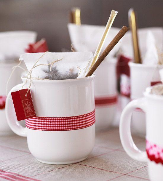 Decoración de tazas navideñas
