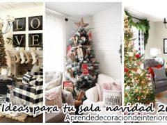 Hermosas ideas para decorar tu sala de estar esta navidad 2016