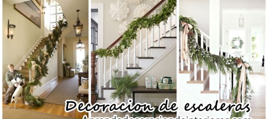 Ideas para decorar las escaleras de tu casa esta navidad 2016 decoracion interiores - Decorar escaleras interiores ...