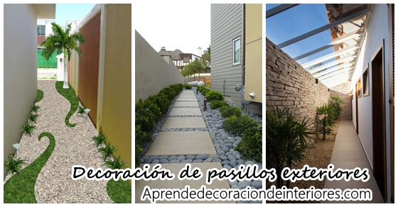 Ideas para decorar pasillos exteriores decoracion interiores - Decorar paredes exteriores ...