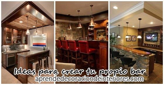 18 ideas para crear tu propio bar decoracion interiores - Ideas decoracion bar ...