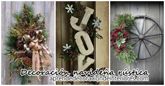 Aprende a  decorar tu puerta esta navidad estilo rústico
