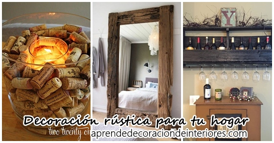Decoracion interiores revista de decoracion de for Ideas rusticas para el hogar