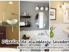 Diseños de muebles y lavabos para decorar tu hogar