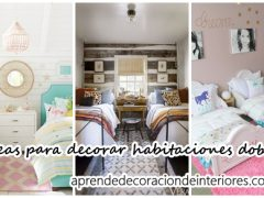 Ideas para decorar habitaciones dobles para niños