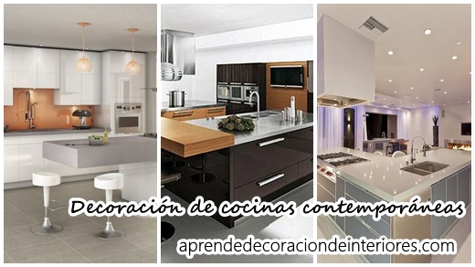 Linda decoración de cocinas contemporáneas | Decoracion Interiores