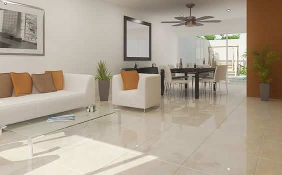 Tipos de pisos para tr fico ligero o interiores de casas decoracion interiores Interiores de casas modernas de un piso