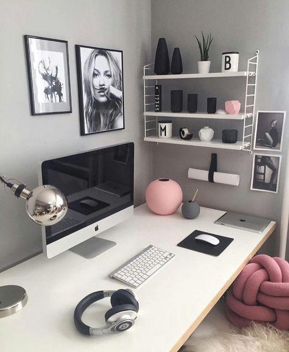como decorar cuarto de estudio mujer | Decoracion Interiores