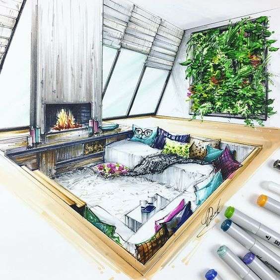 perspectiva en el diseño de interiores