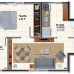 plano de casa pequeña con ideas en decoracion de interiores