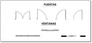 representacion de vidrio en planos arquitectonicos