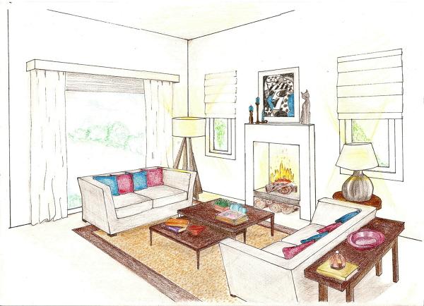 tenica de representacion basica en el diseño de interiores
