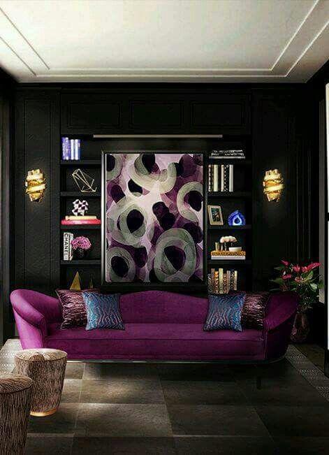 colores para salas modernas 2018 -2019