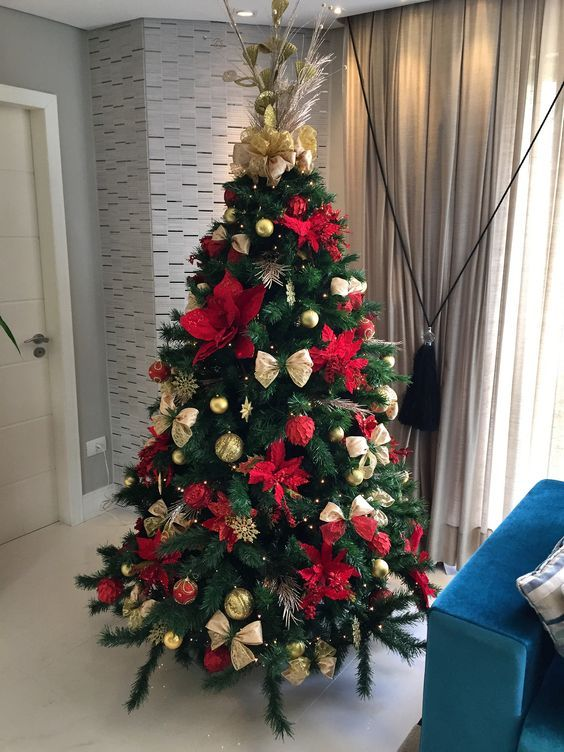 arboles de navidad 2018 rojos