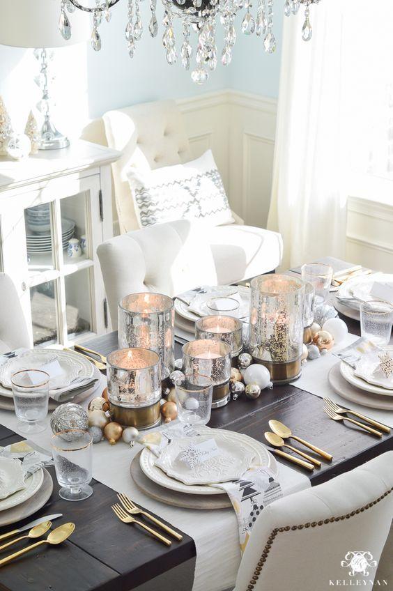 centros de mesa navideños sencillos
