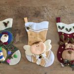 fotos de moldes navideños de señor y señora claus modernos
