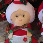 moldes de navidad en fieltro para imprimir de señor y señora Claus