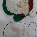 patrones de figuras navideñas en fieltro de señor claus