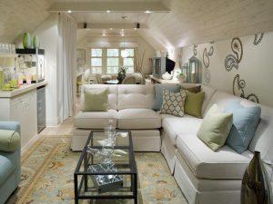 decoracion de salas en color blanco por Candice Olson