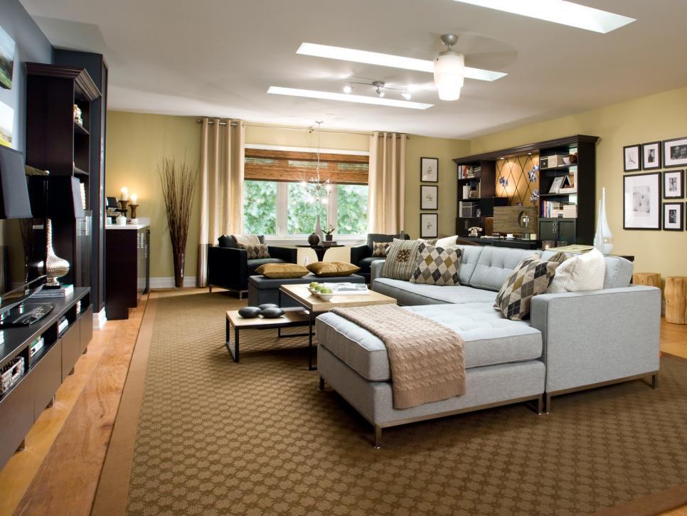 decoracion de salas grandes por Candice Olson
