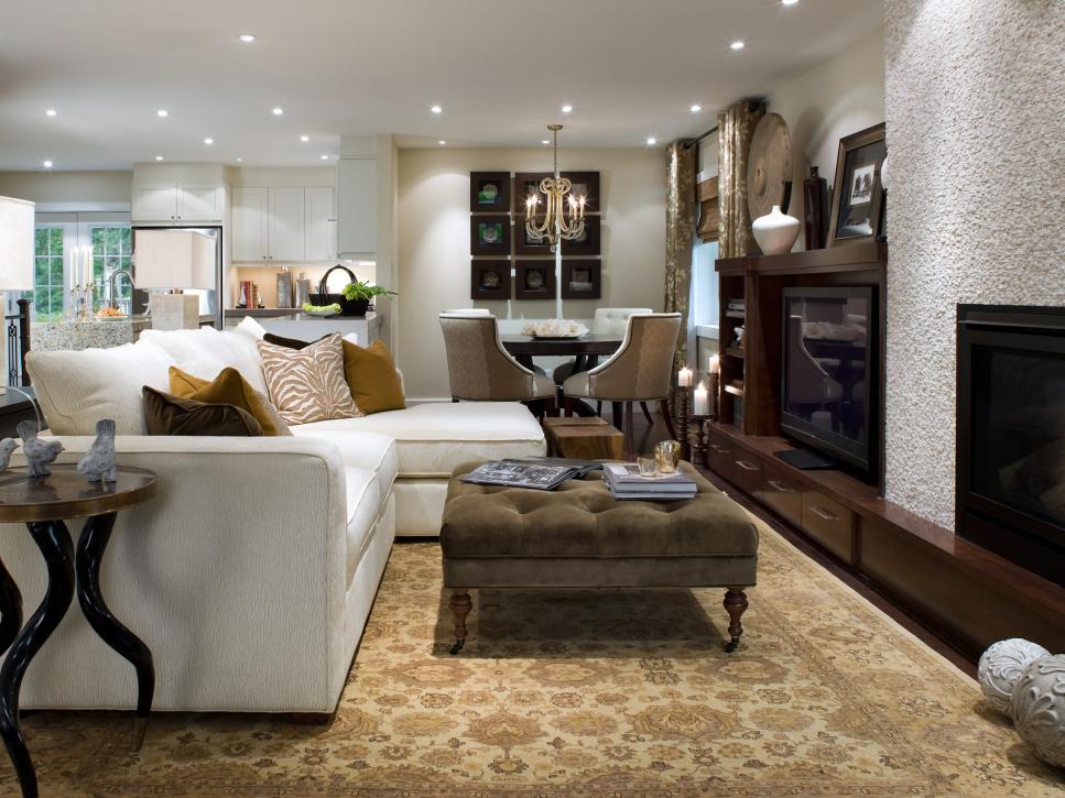 decoracion de salas modernas por Candice Olson