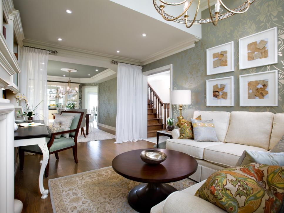 decoracion salas elegantes por Candice Olson