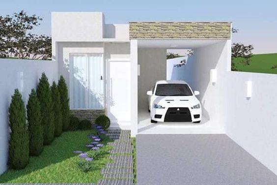 Diseño de casa de casa de 7 metros de frente por 15 de fondo