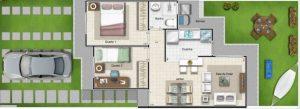 planos de casas de 7 metros de frente por 10 de fondo de un piso