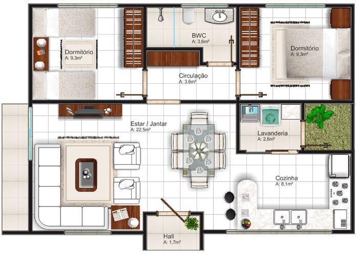 planos de casas de 7 metros de frente por 10 de fondo