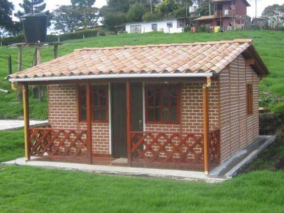 Casas rusticas de piedra y ladrillo para terrenos pequeños
