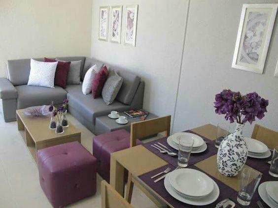 Diseño de salas y comedores de casas de 190 m2