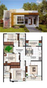 Fachadas para el Diseño distribucion y decoración de casas de 190 m2