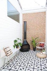 Terrazas pequeñas para casas de infonavit con decoracion sencilla